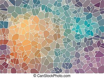 résumé, coloré, mosaïque, fond