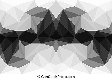 résumé, coloré, polygone, fond