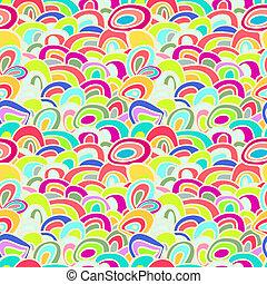 résumé, coloré, seamless, fond, vagues