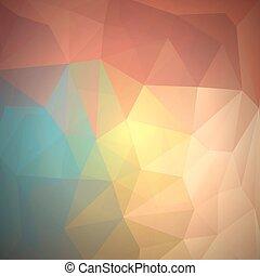 résumé, coloré, triangles, fond