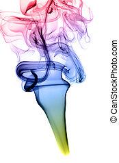 résumé, coloré, vapeur, forme, blanc