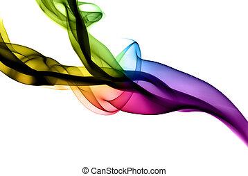 résumé, coloré, vapeur, formes, blanc