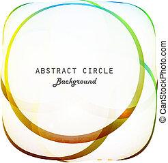 résumé, colorfull, vecteur, fond, cercle, brillant