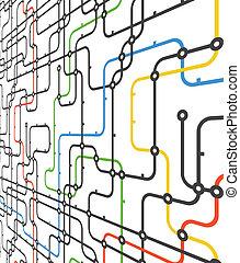 résumé, connexion, plan, dans, perspective