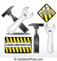 résumé, construction, icône