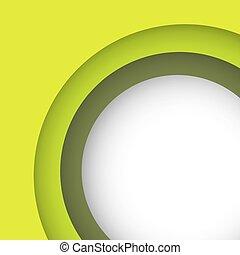 résumé, copie, arrière-plan vert, espace