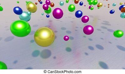 résumé, couleur, balles, métal, sphère, chrome, structure, acier