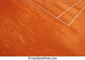 résumé, court tennis, vue
