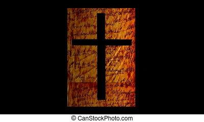 résumé, croix, fond