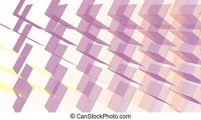 résumé, cubes, 3d, illusion, géométrique, fond