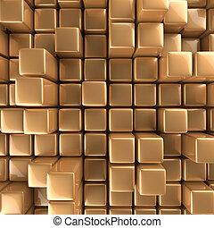 résumé, cubes, fond