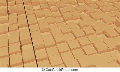 résumé, cubes, image, fond