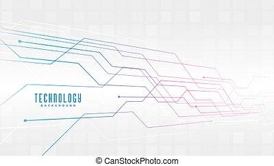 résumé, diagramme, conception, circuit, technologie, fond, lignes
