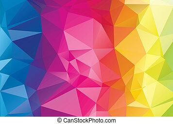 résumé, diamant, géométrique, coloré