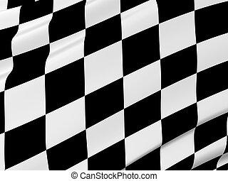 résumé, drapeau checkered