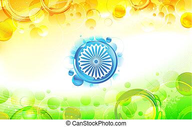 résumé, drapeau indien, fond