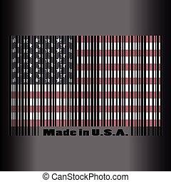 résumé, drapeau, usa, jour indépendance