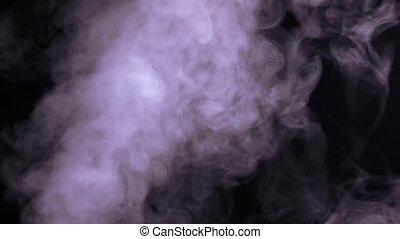 résumé, eau, arrière-plan noir, blanc, vapeur