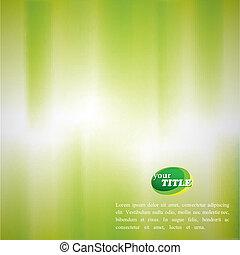 résumé, effet, brouillé, aquarelle, arrière-plan vert