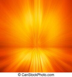 résumé, effet, mouvement, fond, barbouillage, orange