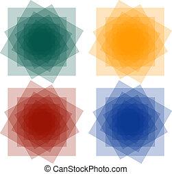 résumé, ensemble, squares1