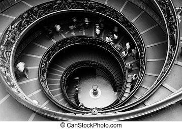 résumé, escalier