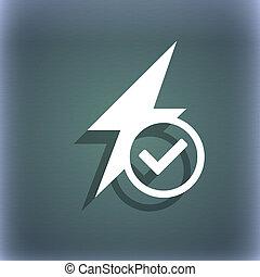 résumé, espace, flash, ton, text., fond, icône, signe., ombre, bleu-vert, photo