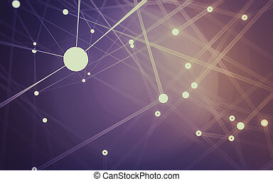 résumé, espace, fond, bas, sombre, polygonal, poly