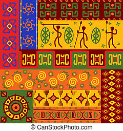 résumé, ethnique, motifs, et, ornements