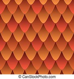 résumé, feu dragon, peau, cuir, coloré, gradient, effect., modèle, seamless, rouges, écailleux, orange, texture, color., style