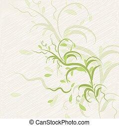 résumé, feuilles, fond, beige, illustration
