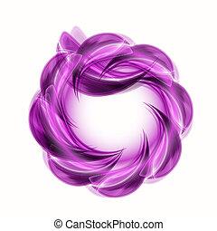 résumé, feuilles, violet