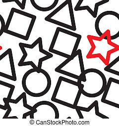 résumé, figures, géométrique, fond