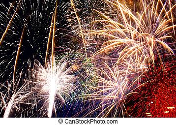 résumé, fireworks/light, fond