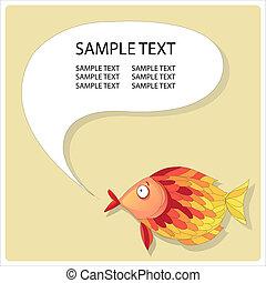 résumé, fish, à, bulle discours