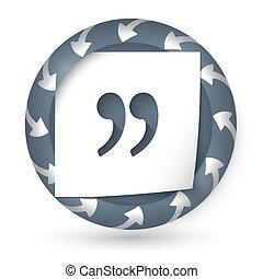résumé, flèches, marque, vecteur, icône, citation