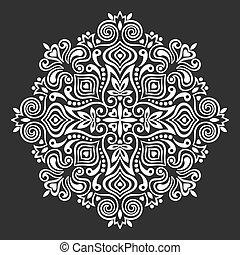 résumé, fleur, conception, mandala., élément