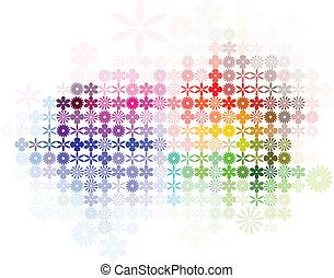 résumé, fleur, spectre, fond
