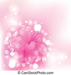 résumé, fleurs, coloré, fond