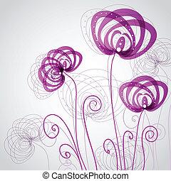 résumé, fleurs, violet