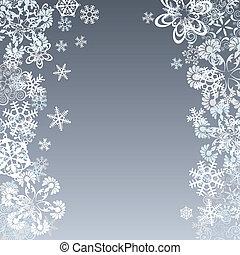 résumé, flocon de neige, fond