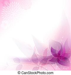 résumé, floral, fond