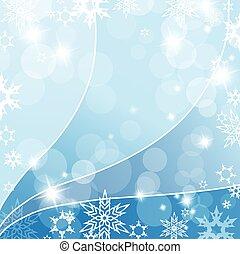résumé, fond, à, snowflakes., vecteur
