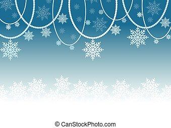 résumé, fond blanc, neige