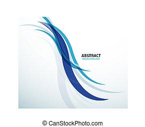 résumé, fond, bleu, technologie, vague