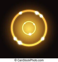 résumé, fond, cercle, or