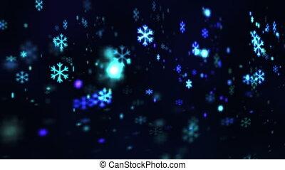 résumé, fond, chute neige