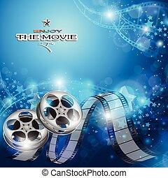 résumé, fond, cinéma