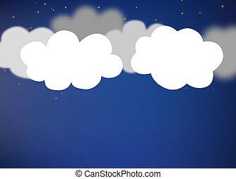 résumé, fond, clouds.