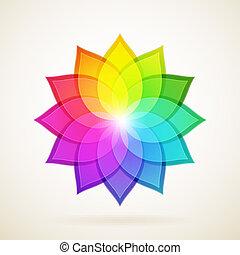 résumé, fond, coloré, flower.